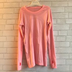 Lululemon Peach Swiftly Long Sleeve